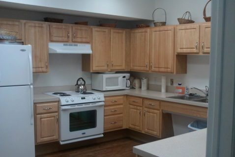 Community Room Kitchen - Seton Square Marion - a BRC Properties location