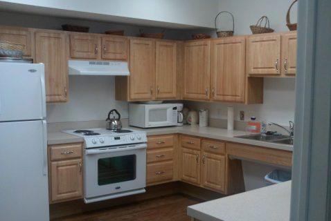 Community Room Kitchen - Seton Square Marion - a BRC Properties location