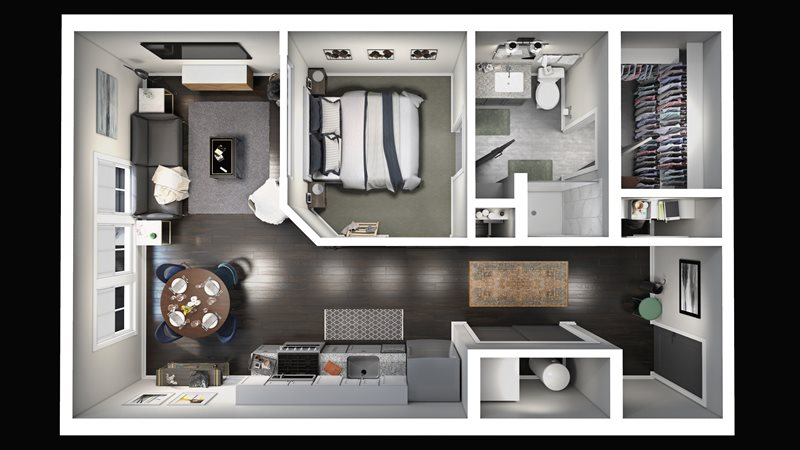 The Beeker Apartment Floor Plan