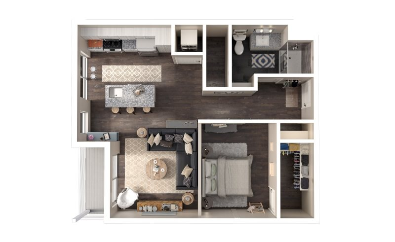 Gold 985 High Apartment Floor Plan